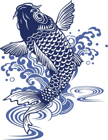 Japanese carp Stock Vector - 18355222