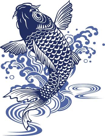 freehand tradition:  Japanese carp