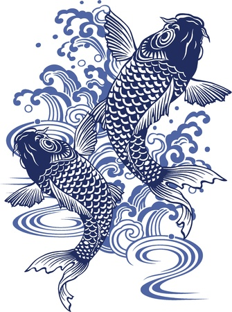 Japanese carp Stock Vector - 18355221