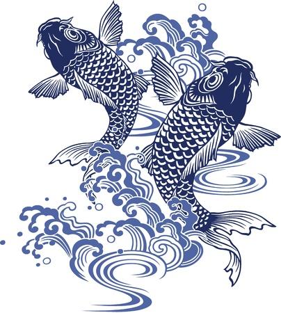 Japanese carp Reklamní fotografie - 18355223