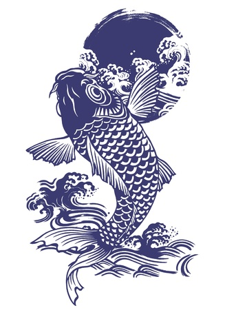 Japanese carp Stock Vector - 18494407