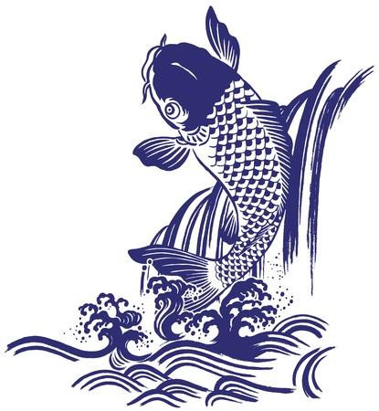 Japanese carp Stock Vector - 18494415