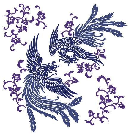 phoenix bird: Oriental phoenix,