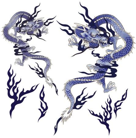 A Japanesque dragon