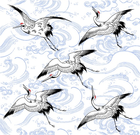 omen: A Japanese crane