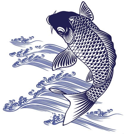Japanese carp Stock Vector - 19783270
