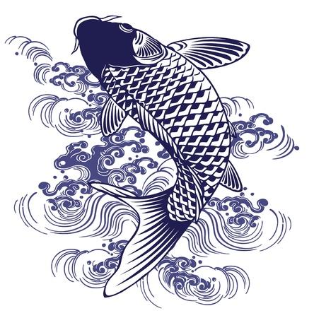 日本の鯉  イラスト・ベクター素材