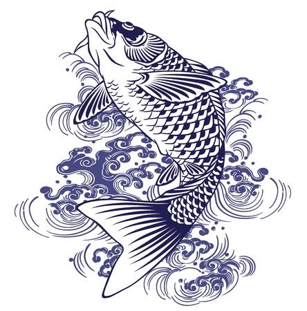 Japanese carp Иллюстрация