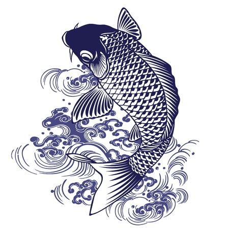 Japanese carp Ilustrace
