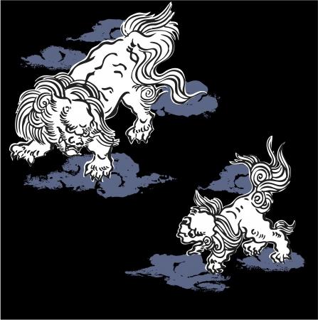Japanese lion Ilustrace