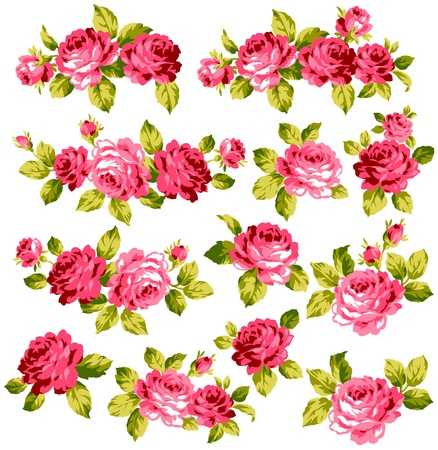 fragrant bouquet: roses collection Illustration