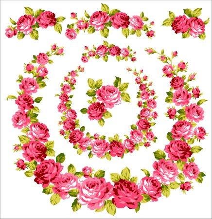バラのコレクション  イラスト・ベクター素材