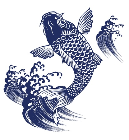 sumi: carp Illustration