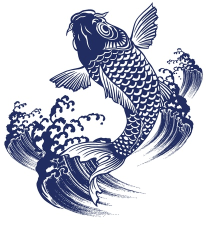 Japanese carp Stock Vector - 20786026