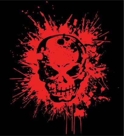 demoniac: splatter skull Illustration