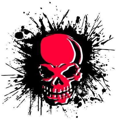 splatter skull Vector