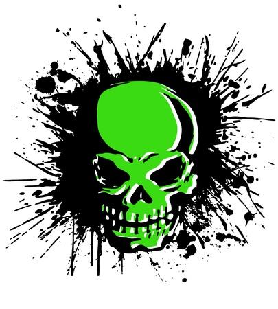 splatter skull Stock Vector - 21546008