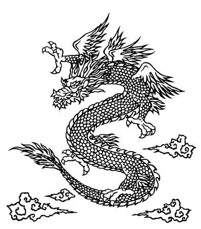 dragon tattoo: Japanesque dragon