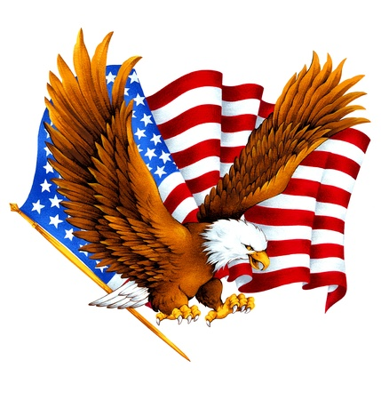 spangled: USA eagle,
