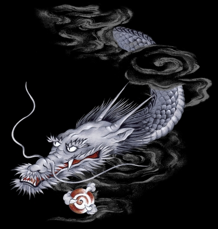 Japanesque dragon Stock Photo