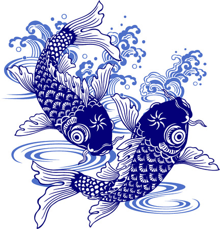 Japanese carp, Illustration