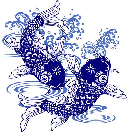 Japanse karper, Stock Illustratie