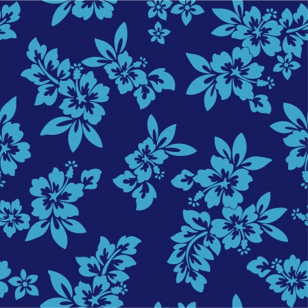 seamless flower Hibiscus Vector
