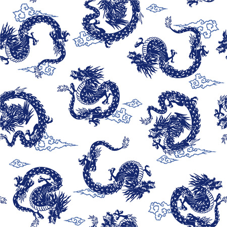 naturally: Japanese dragon is seamless