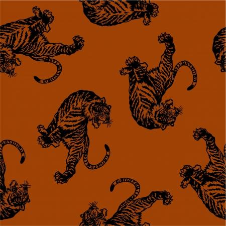 Japanse tijger naadloos Stockfoto - 22339780