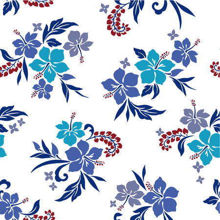 pattern of Hibiscus Vector