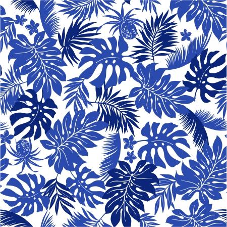 pattern: tropische blad Stock Illustratie