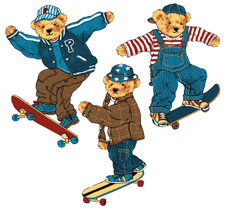 guiltless: skateboarad bear,
