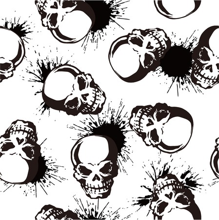 whole creature: splatter and skull pattern
