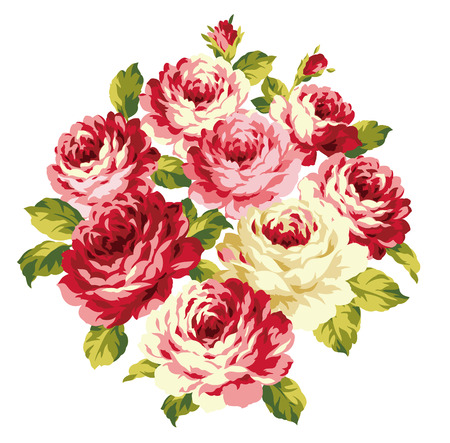 romance bed: decoration of  rose