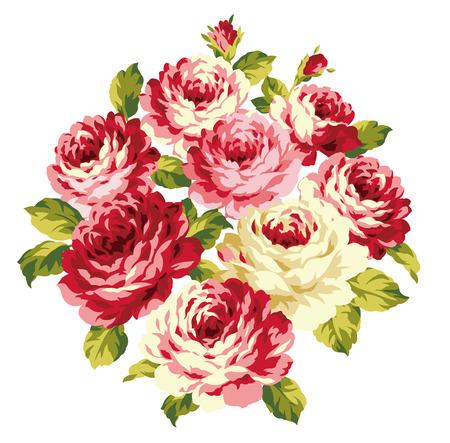 Dekoration aus Rosen