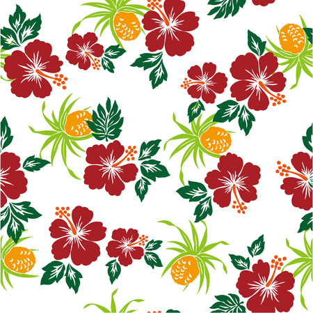 everlasting: pattern of Hibiscus