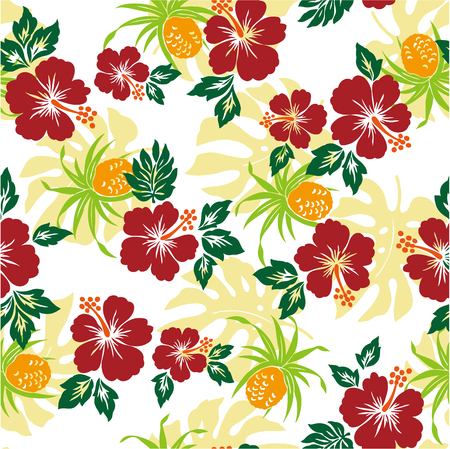 pattern of Hibiscus Vector