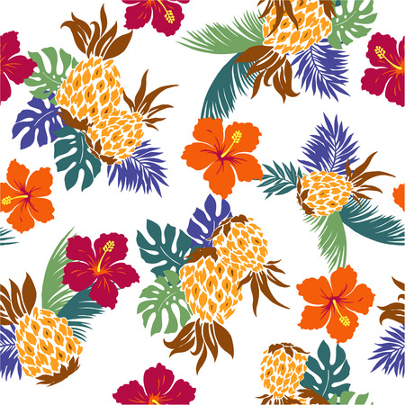 pattern of Hibiscus pineapple,