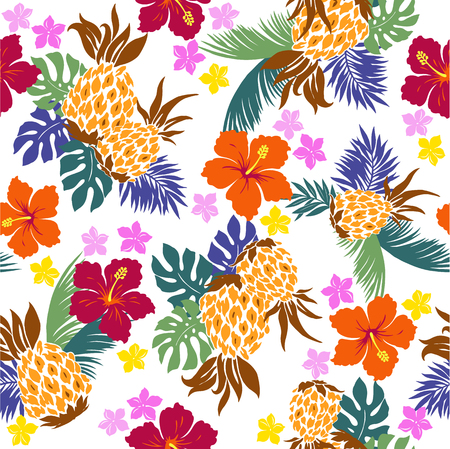 everlasting: pattern of Hibiscus pineapple,