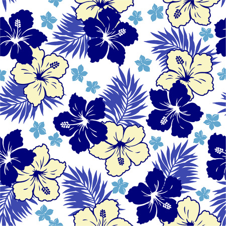 floral flower pattern: pattern of Hibiscus