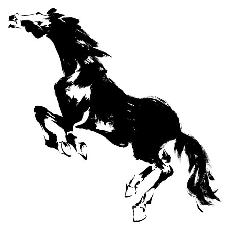 and sumi: Japanese horse