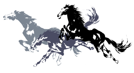 Cheval japonais Banque d'images - 24095351