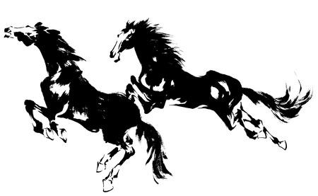 ukiyoe: Japanese horse