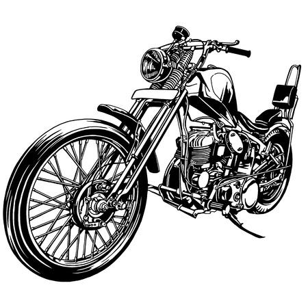大型バイク  イラスト・ベクター素材