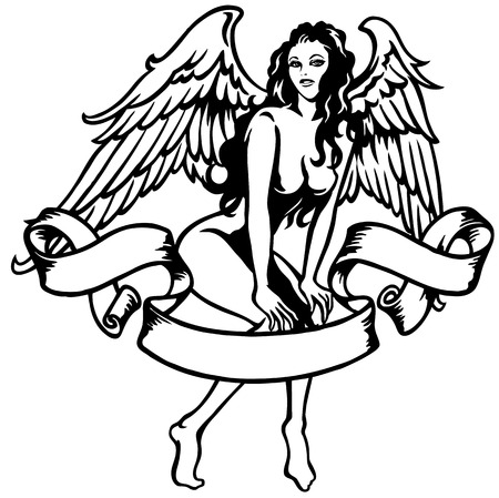 sexy angel Vector