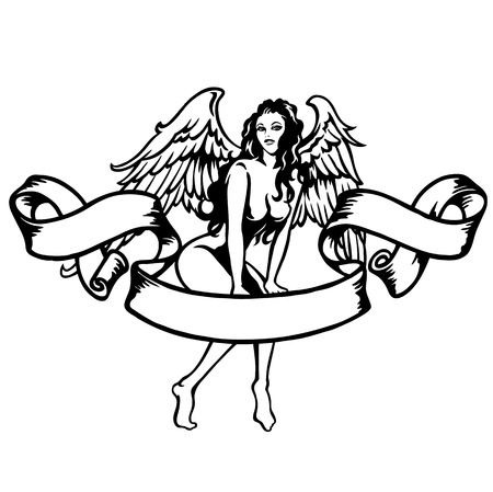 sexy angel Illustration