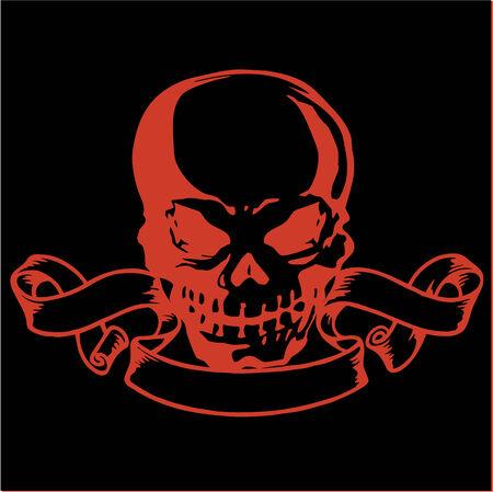 demoniac: Ribbon and the skull Illustration