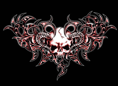 Scull and  tribal  photo
