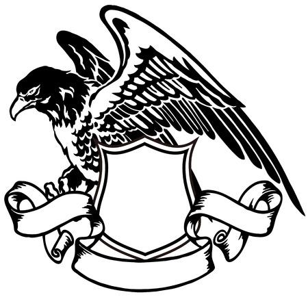 гребень: эмблема орла Иллюстрация