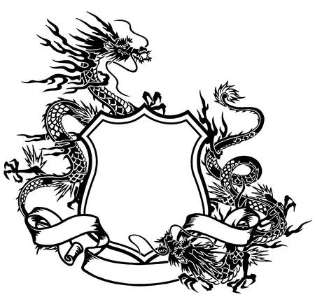 emblem of dragon Illustration